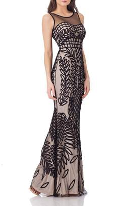 JS Collections Mesh Mermaid Gown