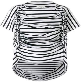 Junya Watanabe striped ruched T-shirt