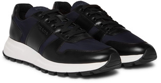 Prada Match Race Leather-Trimmed Nylon Sneakers