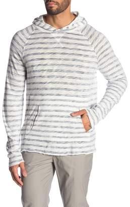 ATM Anthony Thomas Melillo Slub Stripe Hooded Pullover