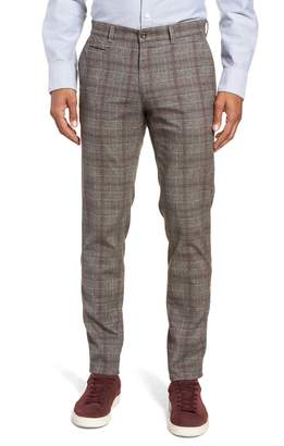 Brax Woolook Slim Fit Check Flat Front Pants