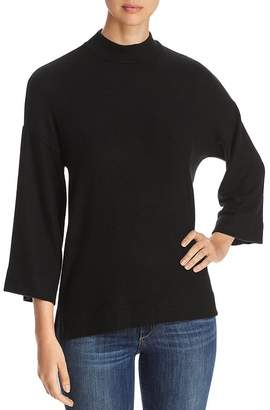 Three Dots Mock-Neck High/Low Sweater