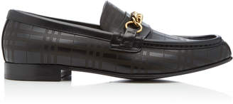 Burberry Moorley Embossed Leather Loafers