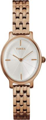 Timex R) Milano Oval Bracelet Watch, 24mm