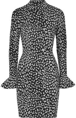 MICHAEL Michael Kors Metallic Jacquard-knit Mini Dress - Silver