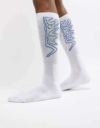 Vans 1 Pack Sketch Tape Socks In White VA3H3MWHT