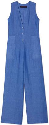 Martin Grant Wide-Leg Linen Jumpsuit