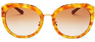 Tory Burch Women's Reva Round Sunglasses, 56mm