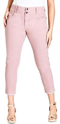 City Chic Harley Release Hem Skinny Jeans