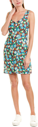 Anna Sui Pom Pom Posies Shift Dress