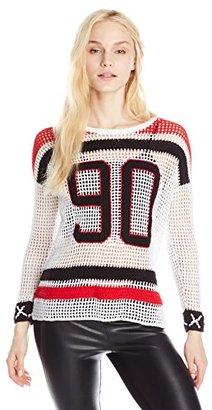 Eleven Paris Women's Nisho Mesh Sweater $203 thestylecure.com