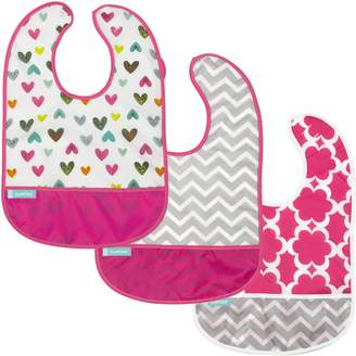 Kushies Cleanbib Waterproof Bib, 3-Pack