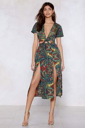 Nasty Gal Split the Difference Paisley Dress