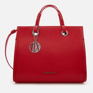 Smooth Red Tote Bag - Poppy red Armani 4tGU1