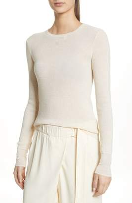 Vince Waffle Knit Wool & Cashmere Top