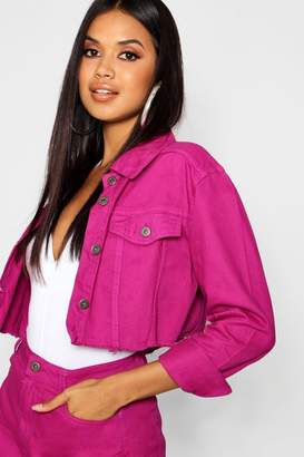 boohoo Magenta Denim Jacket