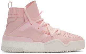 adidas By Alexander Wang by Alexander Wang Pink B-Ball High-Top Sneakers