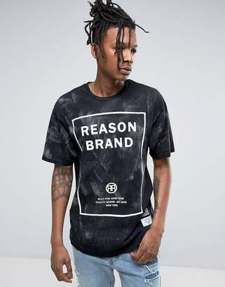 Reason Logo T-Shirt In Acid Wash