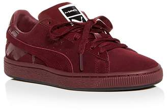 Puma x MAC Women's Classic Suede & Patent Leather Lace Up Sneakers