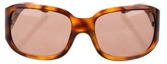 Versace Embellished Tortoiseshell Sunglasses