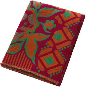 Etro Clamores Fringed Throw - Red