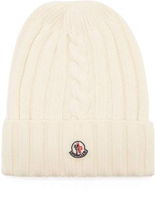 Moncler Rib-knit wool beanie hat