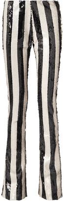 Marques Almeida Marques' Almeida - Sequined Tulle Bootcut Pants - Black