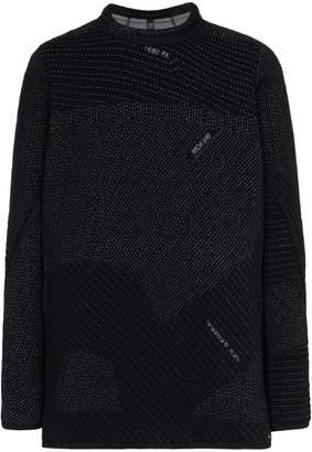 Byborre contrasting stitch cotton jumper