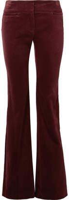 Nili Lotan Amoire Velvet Flared Pants - Burgundy