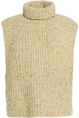 Etoile Isabel Marant Marled Ribbed-Knit Turtleneck Sweater