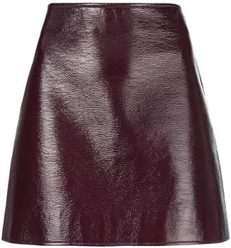 Courreges patent mini skirt