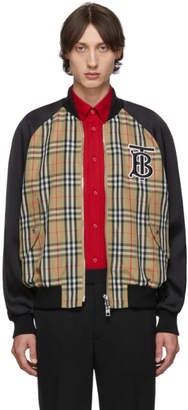 Burberry Beige Harlington Bomber Jacket