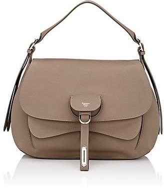 Fontana Milano Women's Wight Medium Leather Saddle Bag - Taupe