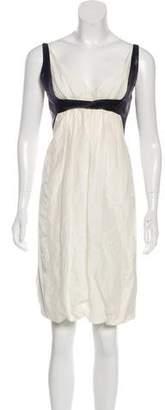 Narciso Rodriguez Linen-Blend Sleeveless Dress
