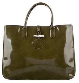 Longchamp Large Patent Leather Tote
