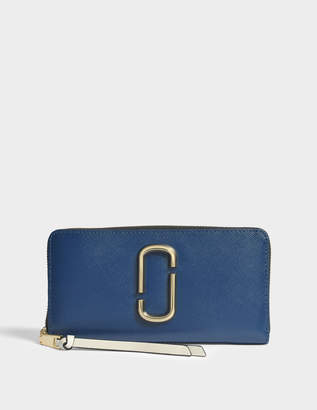 Marc Jacobs Snapshot Standard Continental Wallet in Blue Sea Multi Split Cow Leather