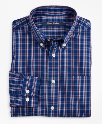 Brooks Brothers Boys Non-Iron Small Check Sport Shirt