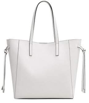 MANGO Pebbled shopper bag