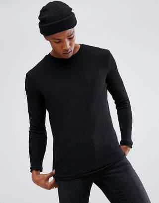 Bershka Lightweight Sweater In Black