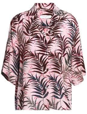 Sandro Paris Printed Silk-Georgette Shirt