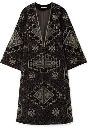 Alice + Olivia Alice Olivia - Stara Embellished Velvet Kimono - Black