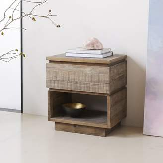 west elm Emmerson® Modern Reclaimed Wood Nightstand - Stone Gray