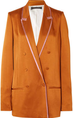 Haider Ackermann Double-breasted Two-tone Satin Blazer - Copper