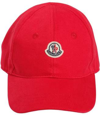 Moncler Cotton Gabardine Hat With Logo