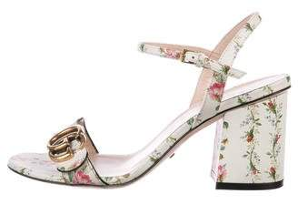 Gucci GG Floral Print Sandals