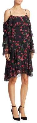 Alice + Olivia Lexis Layered Floral Dress
