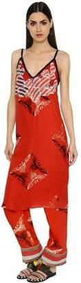 Sanchita Embroidered Printed Silk Georgette Dress