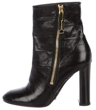 Burberry Patent Leather Ankle Booties