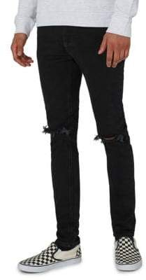 Topman Washed Ripped Skinny Jeans