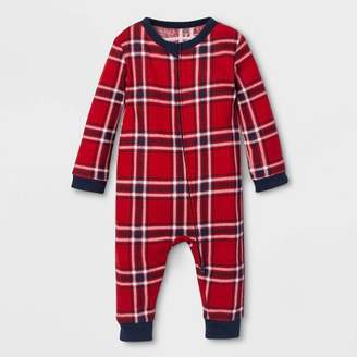 EV Holiday Baby Family Pajama Red Plaid Footed Sleeper - Red